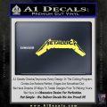 Metallica New Wide Decal Sticker Yelllow Vinyl 120x120