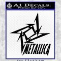 Metallica Ninja Star TXT Decal Sticker Black Logo Emblem 120x120