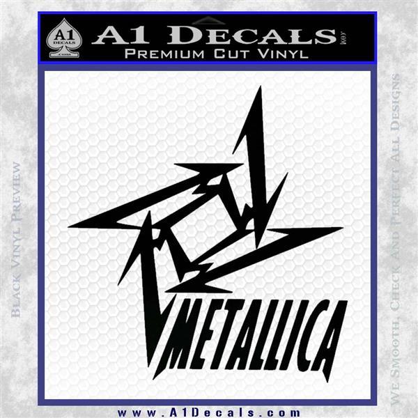 Metallica Ninja Star TXT Decal Sticker Black Logo Emblem