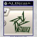 Metallica Ninja Star TXT Decal Sticker Dark Green Vinyl 120x120