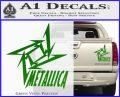 Metallica Ninja Star TXT Decal Sticker Green Vinyl 120x97