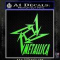 Metallica Ninja Star TXT Decal Sticker Lime Green Vinyl 120x120