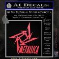 Metallica Ninja Star TXT Decal Sticker Pink Vinyl Emblem 120x120