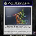 Metallica Ninja Star TXT Decal Sticker Sparkle Glitter Vinyl 120x120