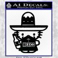 Mexican Hello Kitty Mexico Decal Sticker Black Logo Emblem 120x120