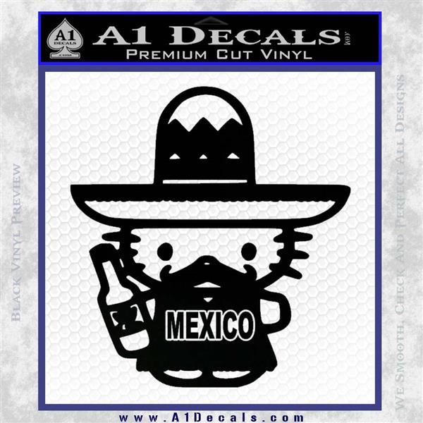 Mexican Hello Kitty Mexico Decal Sticker Black Logo Emblem