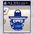 Mexican Hello Kitty Mexico Decal Sticker Blue Vinyl 120x120