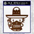 Mexican Hello Kitty Mexico Decal Sticker Brown Vinyl 120x120