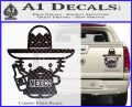 Mexican Hello Kitty Mexico Decal Sticker Carbon Fiber Black 120x97