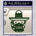 Mexican Hello Kitty Mexico Decal Sticker Dark Green Vinyl 120x120