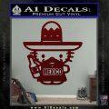Mexican Hello Kitty Mexico Decal Sticker Dark Red Vinyl 120x120
