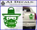 Mexican Hello Kitty Mexico Decal Sticker Green Vinyl 120x97