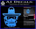 Mexican Hello Kitty Mexico Decal Sticker Light Blue Vinyl 120x97