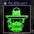 Mexican Hello Kitty Mexico Decal Sticker Lime Green Vinyl 120x120