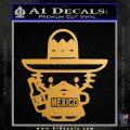 Mexican Hello Kitty Mexico Decal Sticker Metallic Gold Vinyl Vinyl 120x120