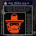 Mexican Hello Kitty Mexico Decal Sticker Orange Vinyl Emblem 120x120