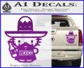 Mexican Hello Kitty Mexico Decal Sticker Purple Vinyl 120x97