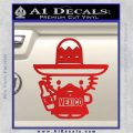 Mexican Hello Kitty Mexico Decal Sticker Red Vinyl 120x120