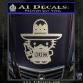 Mexican Hello Kitty Mexico Decal Sticker Silver Vinyl 120x120