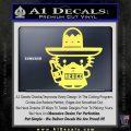 Mexican Hello Kitty Mexico Decal Sticker Yelllow Vinyl 120x120
