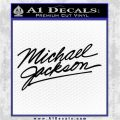 Michael Jackson Signature Decal Sticker Black Logo Emblem 120x120