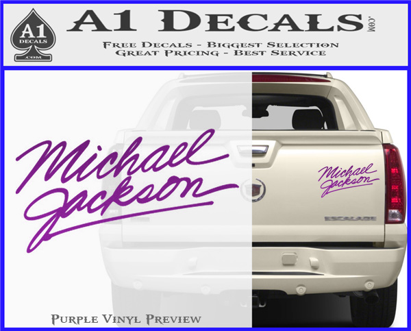 Music Rock Bands Micheal Jackson v4 Decal Vinyl Truck Car Sticker