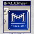 Mission Archery Decal Sticker RT Blue Vinyl 120x120