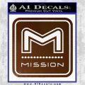 Mission Archery Decal Sticker RT Brown Vinyl 120x120