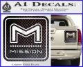 Mission Archery Decal Sticker RT Carbon Fiber Black 120x97