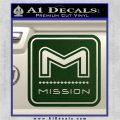 Mission Archery Decal Sticker RT Dark Green Vinyl 120x120