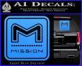 Mission Archery Decal Sticker RT Light Blue Vinyl 120x97