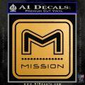 Mission Archery Decal Sticker RT Metallic Gold Vinyl 120x120