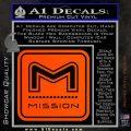 Mission Archery Decal Sticker RT Orange Vinyl Emblem 120x120