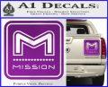 Mission Archery Decal Sticker RT Purple Vinyl 120x97