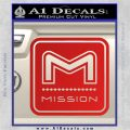 Mission Archery Decal Sticker RT Red Vinyl 120x120