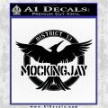 Mockingjay District 13 emblem Hunger Games DLB Decal Sticker Black Logo Emblem 120x120