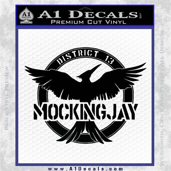 Mockingjay District 13 emblem Hunger Games DLB Decal Sticker Black Logo Emblem