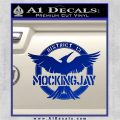 Mockingjay District 13 emblem Hunger Games DLB Decal Sticker Blue Vinyl 120x120