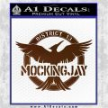 Mockingjay District 13 emblem Hunger Games DLB Decal Sticker Brown Vinyl 120x120