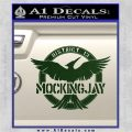 Mockingjay District 13 emblem Hunger Games DLB Decal Sticker Dark Green Vinyl 120x120
