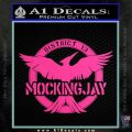 Mockingjay District 13 emblem Hunger Games DLB Decal Sticker Hot Pink Vinyl 120x120
