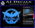 Mockingjay District 13 emblem Hunger Games DLB Decal Sticker Light Blue Vinyl 120x97