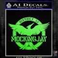 Mockingjay District 13 emblem Hunger Games DLB Decal Sticker Lime Green Vinyl 120x120