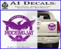 Mockingjay District 13 emblem Hunger Games DLB Decal Sticker Purple Vinyl 120x97