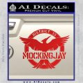 Mockingjay District 13 emblem Hunger Games DLB Decal Sticker Red Vinyl 120x120