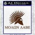 Molon Labe Bullets Spartan Decal Sticker Brown Vinyl 120x120