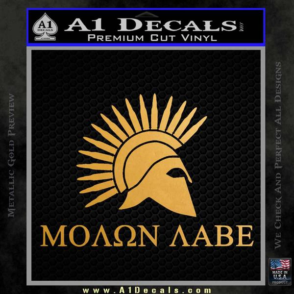 Molon Labe Bullets Spartan Decal Sticker Metallic Gold Vinyl Vinyl