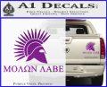 Molon Labe Bullets Spartan Decal Sticker Purple Vinyl 120x97