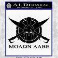 Molon Labe CS Decal Stickers Black Logo Emblem 120x120