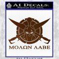 Molon Labe CS Decal Stickers Brown Vinyl 120x120